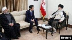 جاپان کے وزیر اعظم شنزو ابی نے ایرانی رہبرِ اعلیٰ آیت اللہ علی خامنہ ای سے بھی ملاقات کی