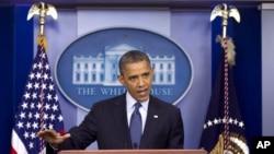 Predsednik Barak Obama na konferenciji za novinare u Beloj kući, 8. jun 2012.