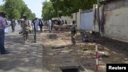 Daya daga cikin wuraren da yan kungiyar Boko Haram suka kai hari a N'Djamena, Chadi