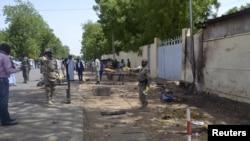 Le lieu où un double attentat à la bombe a eu lieu le 16 juin 2015, tuant 38 personnes, à N'Djamena, au Tchad (Reuters)