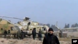 錄影片段顯示反對派出沒在大馬士革附近一個空軍基地