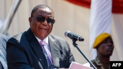 Le vice-président du Zimbabwe Constantino Chiwenga à Harare, le 14 aout 2018