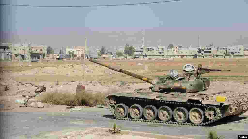 Al-Buyda shahri, hukumatga qarshi kuchlarning tanklari
