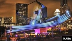Le télescope James Webb Space, exposé à Austin au Texas (NASA/Chris Gunn)
