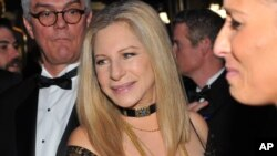 Barbra Streisand attends the Governor's Ball following the Oscars at the Dolby Theatre, Feb. 24, 2013, in Los Angeles.