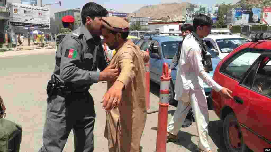منسوبین پولیس کابل مصروف تامین امنیت شهر کابل