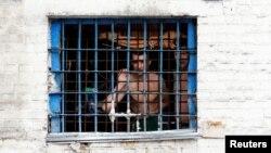 Một tù nhân bị giam giữ tại nhà tù Lukyanivska ở Kiev, Ukraine, ngày 19/7/2016.