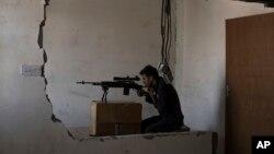 2017年7月5日伊拉克特种部队狙击手在摩苏尔老城