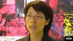 台灣婦女救援基金會執行長 康淑華 (美國之音 張永泰)