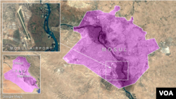 Mosul ၿမိဳ႕ေလဆိပ္ျပေျမပံု