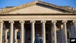 미국 워싱턴의 재무부 건물.