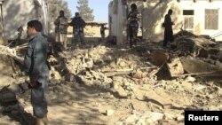 아프간 칸다하르에서 지난 1월 발생한 자살폭탄공격 현장. (자료사진)