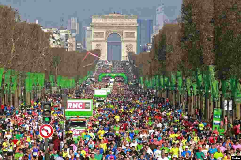 مسابقه ماراتن پاریس چهل ساله شد.