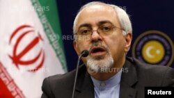 Iranian Foreign Minister Mohammad Javad Zarif addresses the media during a news conference in Ankara, Nov. 1, 2013.