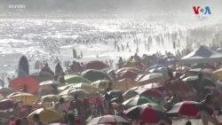 Brazilian Beachgoers Ignore Warnings of COVID-19