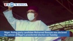VOA60 Afrikaa - Mohamed Bazoum Declared Winner of Niger's Presidential Run-off