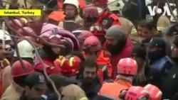 Une fillette coincée dans un immeuble effondré à Istanbul sauvé après 19 heures