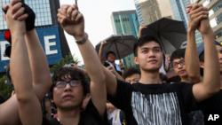 學生主導的民主示威活動。
