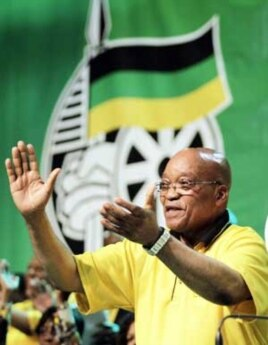 South Africa's ruling ANC party will rely heavily on the personality of President Jacob Zuma during the country's upcoming local government, or municipal, elections