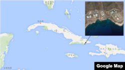 古巴关塔纳摩湾军事羁押中心 (谷歌地图)