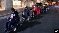 Protest osoba sa invaliditetom, Foto: ilustracija, (AP Photo/Charles Krupa)