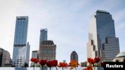 Museo y Monumento a las víctimas de los ataques terroristas del 11 de septiembre de 2001. Nueva York, septiembre 11, 2017.