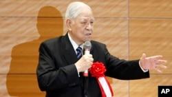台灣前總統李登輝在東京對議員們講話(2015年7月22日)