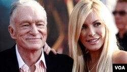 Hefner, quien le lleva 60 años a Harris, se iba a casar por tercera vez el pasado 18 de junio (2011).