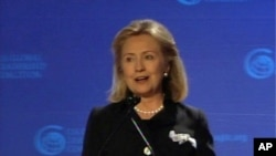 希拉里·克林顿7月12日在美国全球领袖联盟大会讲话