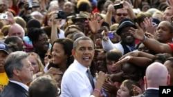 奧巴馬星期二繼續出席競選活動