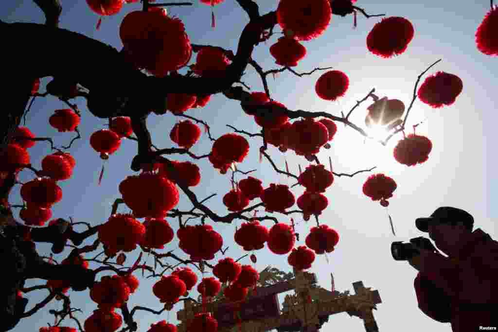 Oy taqvimi yangi yili arafasida. Pekin, Xitoy