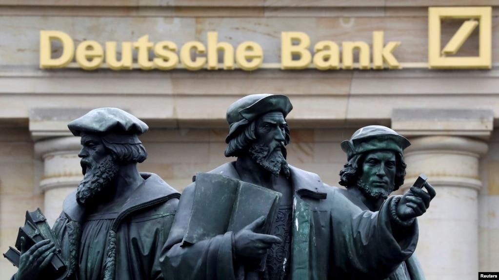 位于德国法兰克福的德意志银行分部(2016年9月30日,资料照片)。