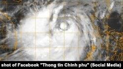 Ảnh vệ tinh bão Doksuri (bão số 10) vào sáng 13/9/2017.