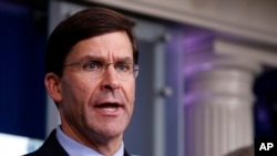 Mark Esper secretario de defensa