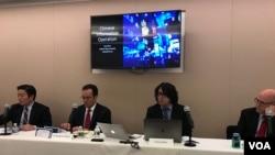 全球台湾研究中心2019年10月23日举行如何应对中国信息战座谈会(美国之音锺辰芳拍摄)