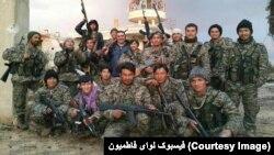 لوای فاطمیون در سوریه مرکب از جنگجویان شیعۀ افغان است