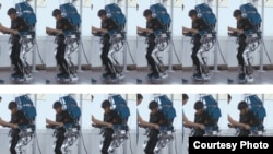 A patient uses the Walk Again Project exoskeleton. Credit: AASDAP