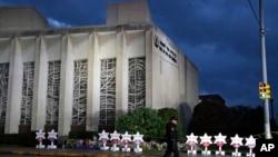 """匹茲堡""""生命之樹""""猶太教堂外觀。"""