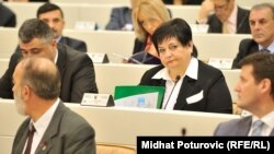Dušanka Majkić, poslanica u Predstavničkom domu Parlamentarne skupštine BiH, decembar 2014.