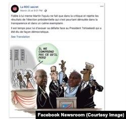 Facebook a fermé ce compte utilisé pour influencer l'élection en Afrique, le 16 mai 2019. (Facebook Newsroom)