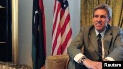 Ðại sứ Hoa Kỳ tại Libya Christopher Stevens tại tư gia ở Tripoli, ngày 28/6/2012