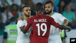 المعز علی دو گل به عربستان زد و تا اینجا آقای گل مسابقات است