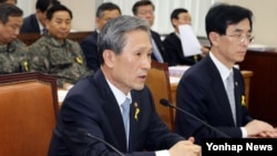 김관진 한국 국방부 장관 (자료사진)