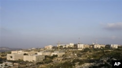 "The Ariel college is seen in the West Bank Jewish settlement of Ariel, 02 Feb 2010. The planned upgrade of the college, which already calls itself a ""university center,"" with 8,700 full-time and 2,500 part-time students, is perhaps the most controversial"