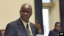 FILE - Zimbabwean Finance Minister Patrick Chinamasa.