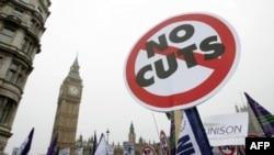 Британцы протестуют против сокращения госрасходов