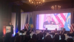 Yerlan Idrissov, Foreign Minister of Kazakhstan and Madeleine Albright, former Secretary of State, 10-12-14