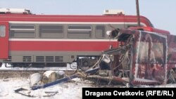 Serbia -- A train accident (crash) in Donje Medjurovo near Serbian town of Nis, December 21, 2018. FOTO:RSE