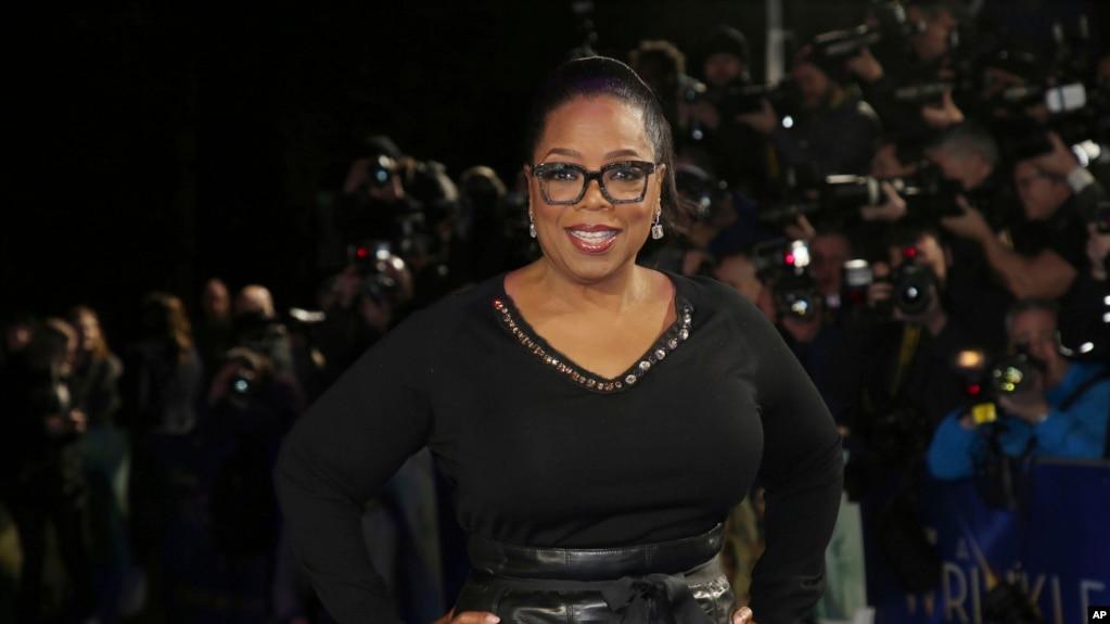 Archivo -La actriz y empresaria Oprah Winfrey a su llegada a la premiere de la película 'A Wrinkle In Time' en Londres. 13 de marzo de 2018.