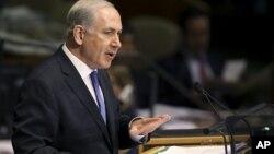 以色列总理内塔尼亚胡9月27日在联合国大会上讲话